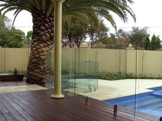 Consider a glass wall security fence that's completely secure for aesthetic reasons
