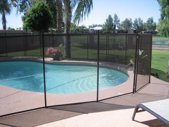Install a life saver security fence by Omni that's temporary and obstructive
