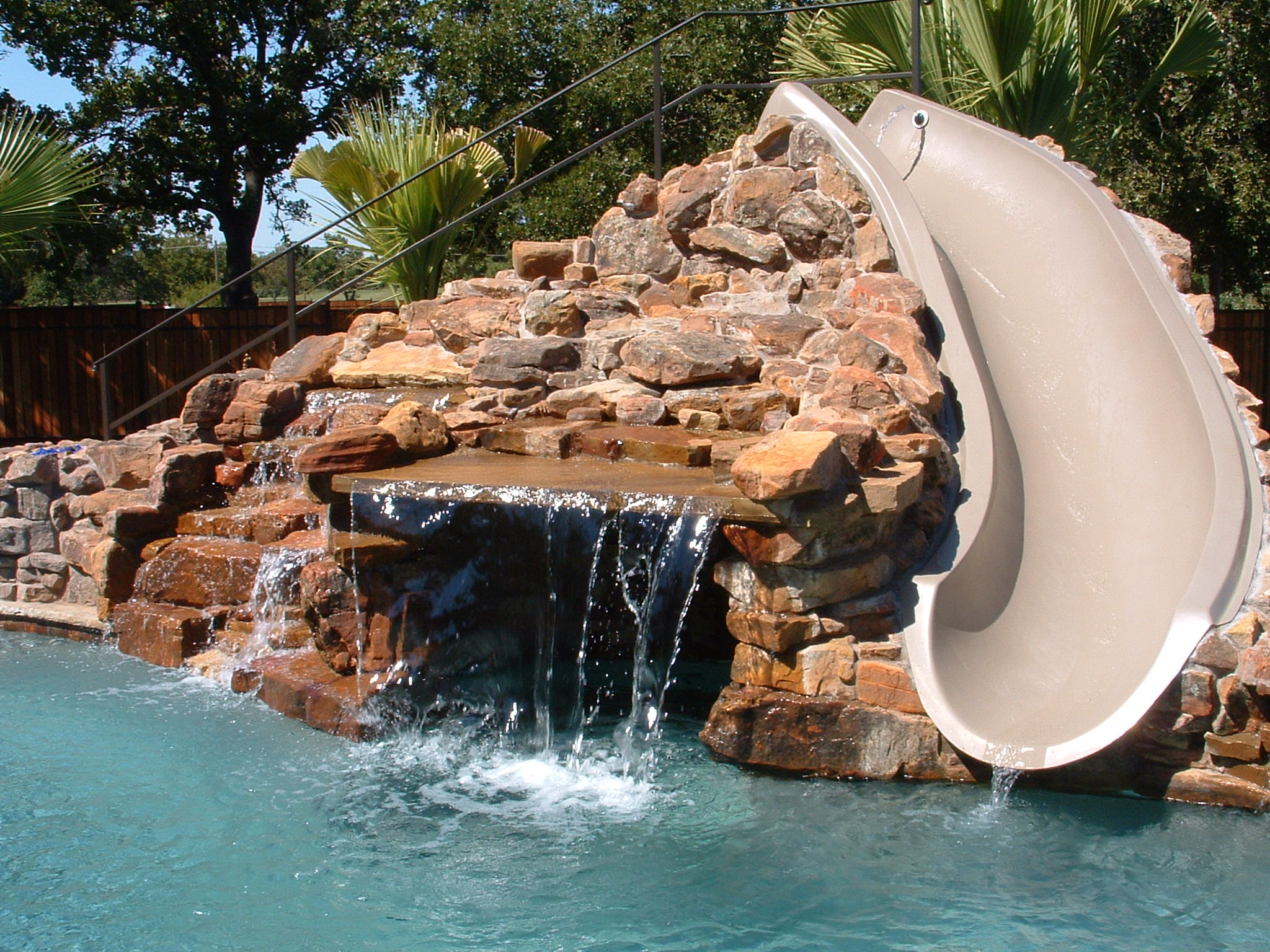 think about a waterfall cave addition - Swimming Pools With Waterfalls And Slide