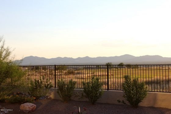 Iron fence so you can enjoy the view of your desert landscape
