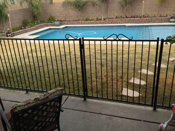 Iron fence / security fence for homes with children