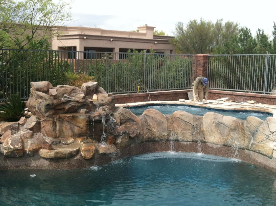 Spa additions omni pool builders design for Pool design tucson