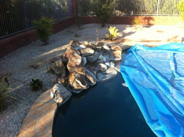 Spa addition to a freeform pool